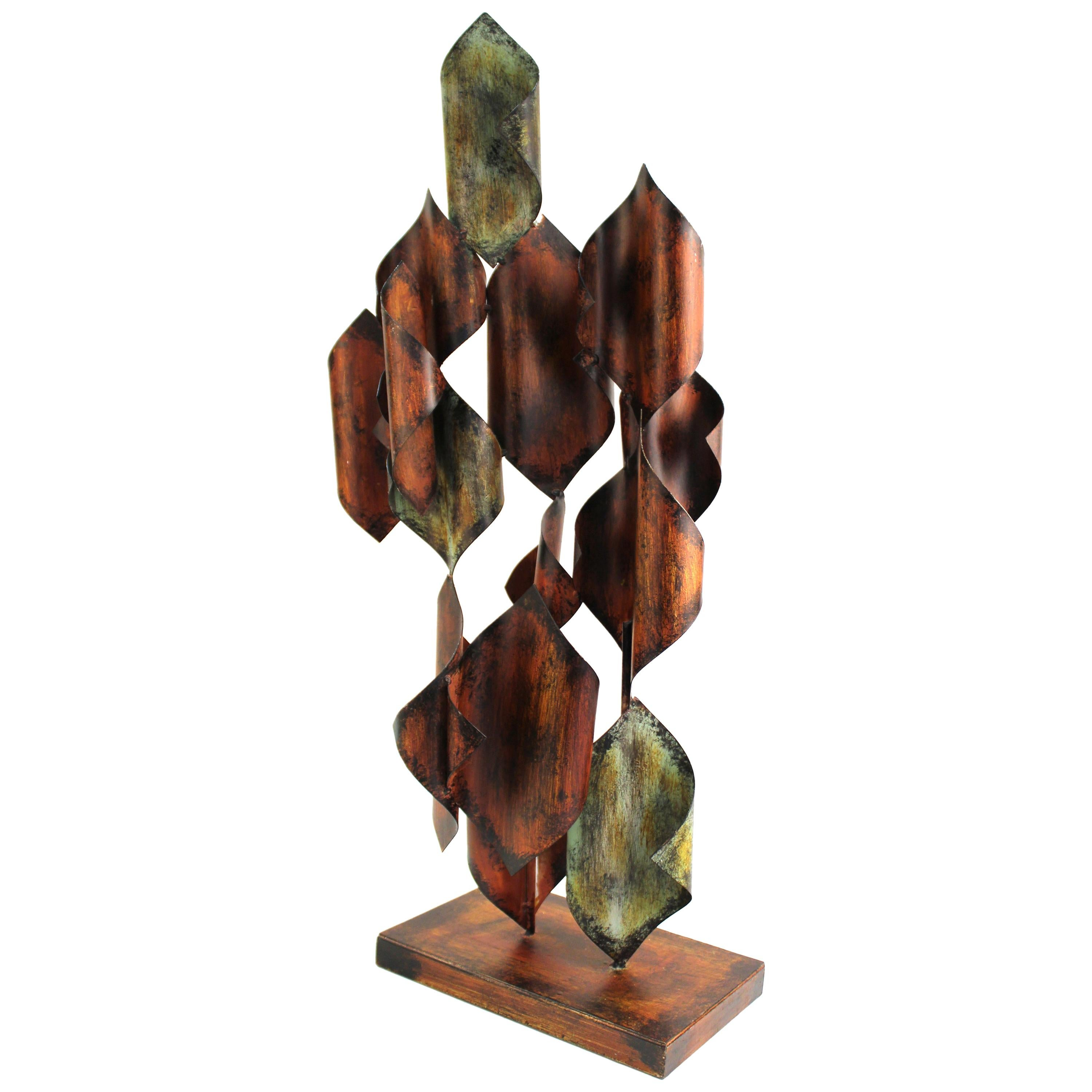 Modern Abstract Metal Sculpture in Style of Curtis Jere