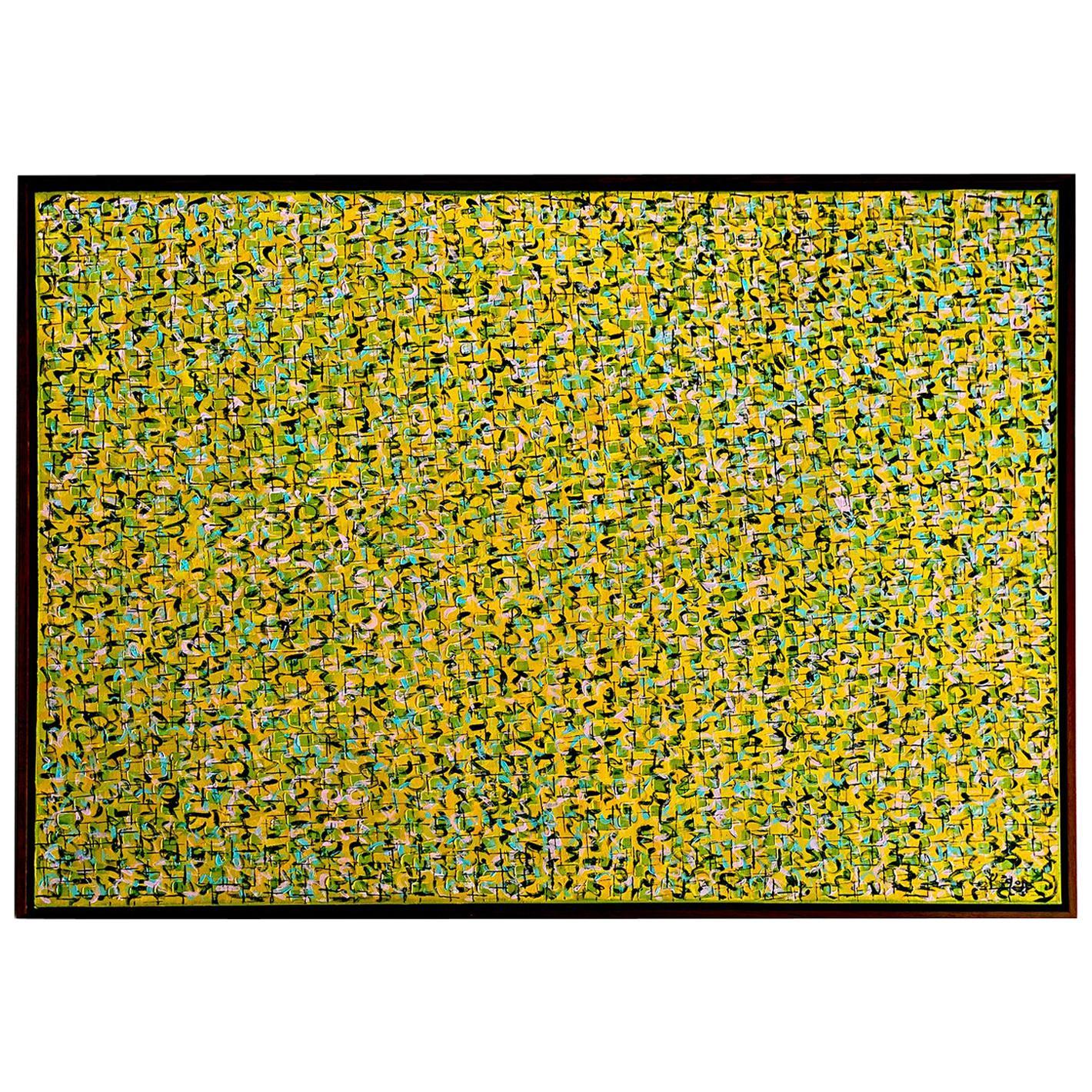 """Modern Abstract Mixed-Media on Canvas Painting """"Pray 0819"""", Hyunae Kang"""
