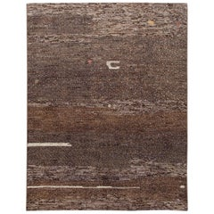 Modern Abstract Moroccan-Style Room Size Wool Rug