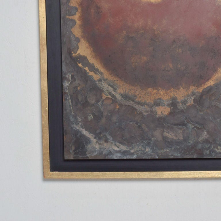 Contemporary Modern Abstract Painting Bronze Metal Wall Art by Raul Monje, 2003 For Sale