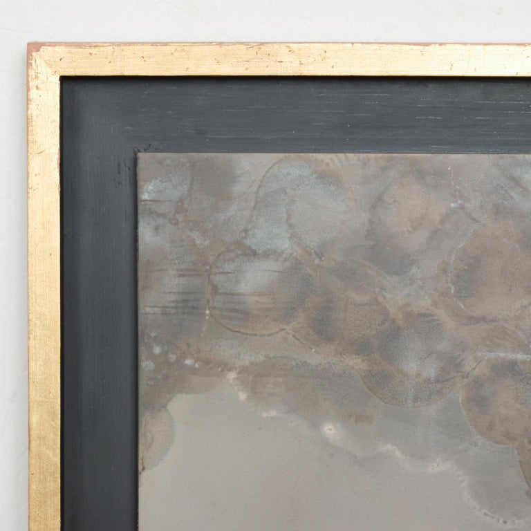 For your consideration: an abstract patinated brass bronze wall art by Raul Monje. Mexico. Signed by Artist, 2003.   Dimensions: Framed 29 1/2