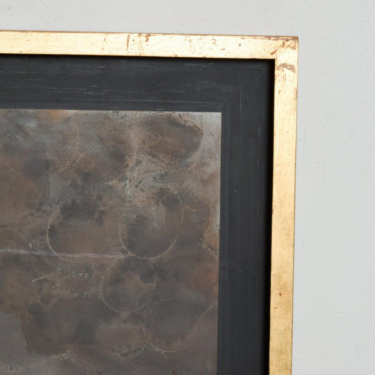 Mexican Modern Abstract Patinated Brass Bronze Wall Art by Raul Monje, 2003 For Sale