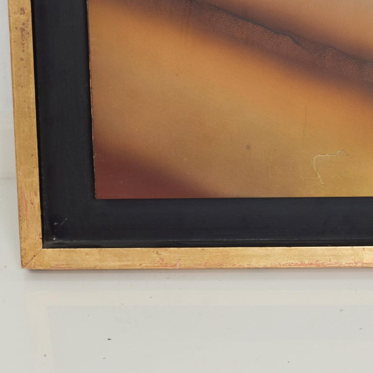 Contemporary Modern Abstract Patinated Brass Bronze Wall Art by Raul Monje, 2003 For Sale