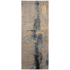 Rug & Kilim's Modern Abstract Rug with Gray and Blue All-Over Pattern