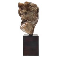 Modern Abstract Soapstone Sculpture in Head Form