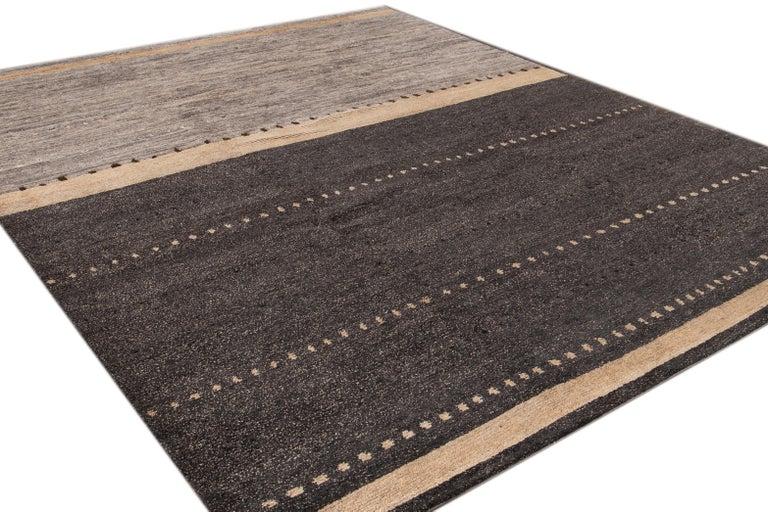 Modern Abstract Tibetan Room Size Wool Rug For Sale 5