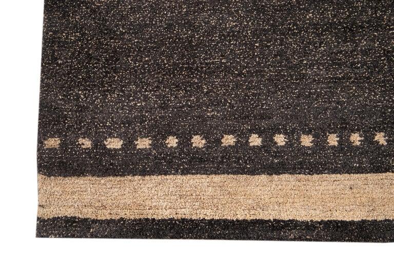 Modern Abstract Tibetan Room Size Wool Rug For Sale 6