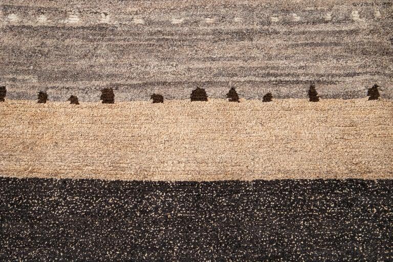 Modern Abstract Tibetan Room Size Wool Rug For Sale 7