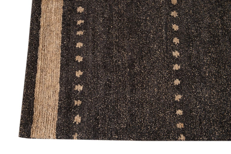 Hand-Knotted Modern Abstract Tibetan Room Size Wool Rug For Sale