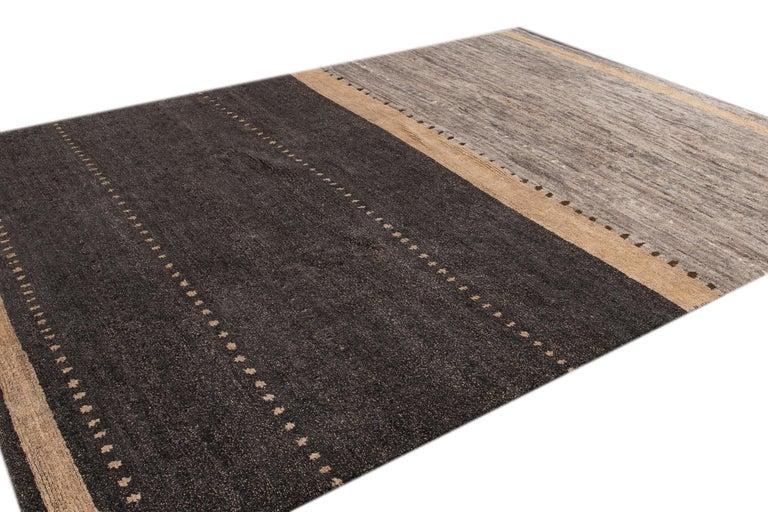 Modern Abstract Tibetan Room Size Wool Rug For Sale 1