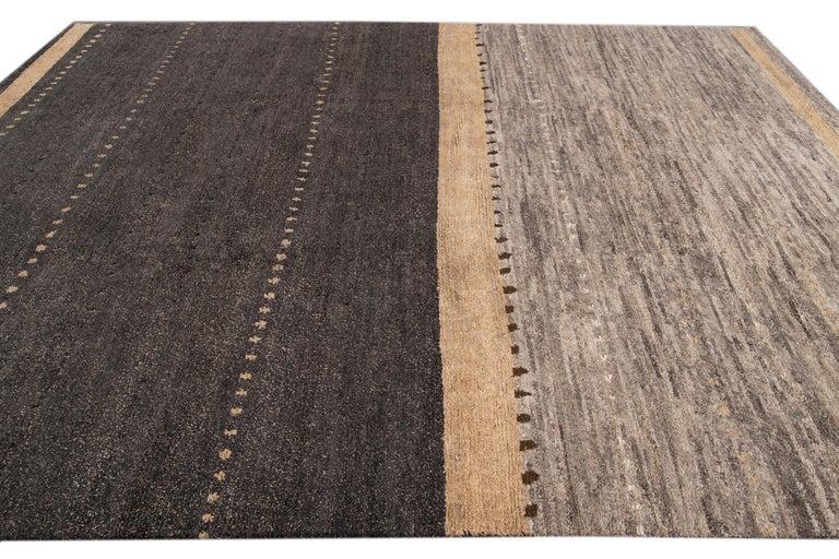 Modern Abstract Tibetan Room Size Wool Rug For Sale 3