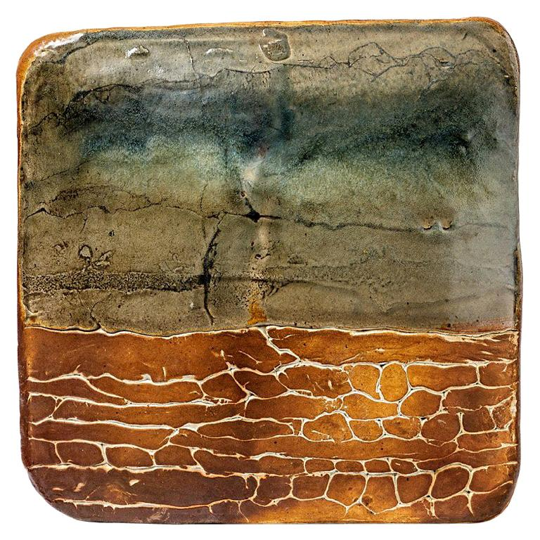 Modern Abstract Wall Ceramic Sculpture by Thimonnier French Artist, 1980