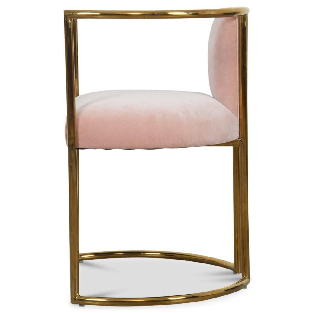 Chinese Modern Acapulco Curved Dining Chair Brass Frame For Sale  sc 1 st  1stDibs & Modern Acapulco Curved Dining Chair Brass Frame For Sale at 1stdibs