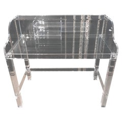 Modern Acrylic Desk with Top with 4 Legs