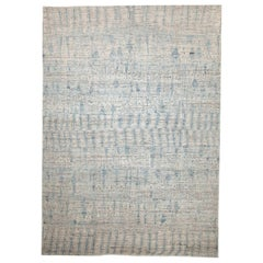 Modern Afghan Moroccan Style Rug with Blue Mix of Tribal Patterns All-Over