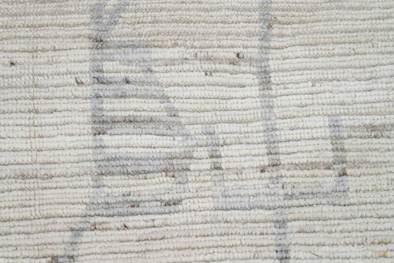 Modern Afghan Moroccan Style Rug with Mixed Tribal Patterns in Gray In New Condition For Sale In Dallas, TX