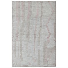 Modern Afghanistan Rug with All-Over Modern Pattern