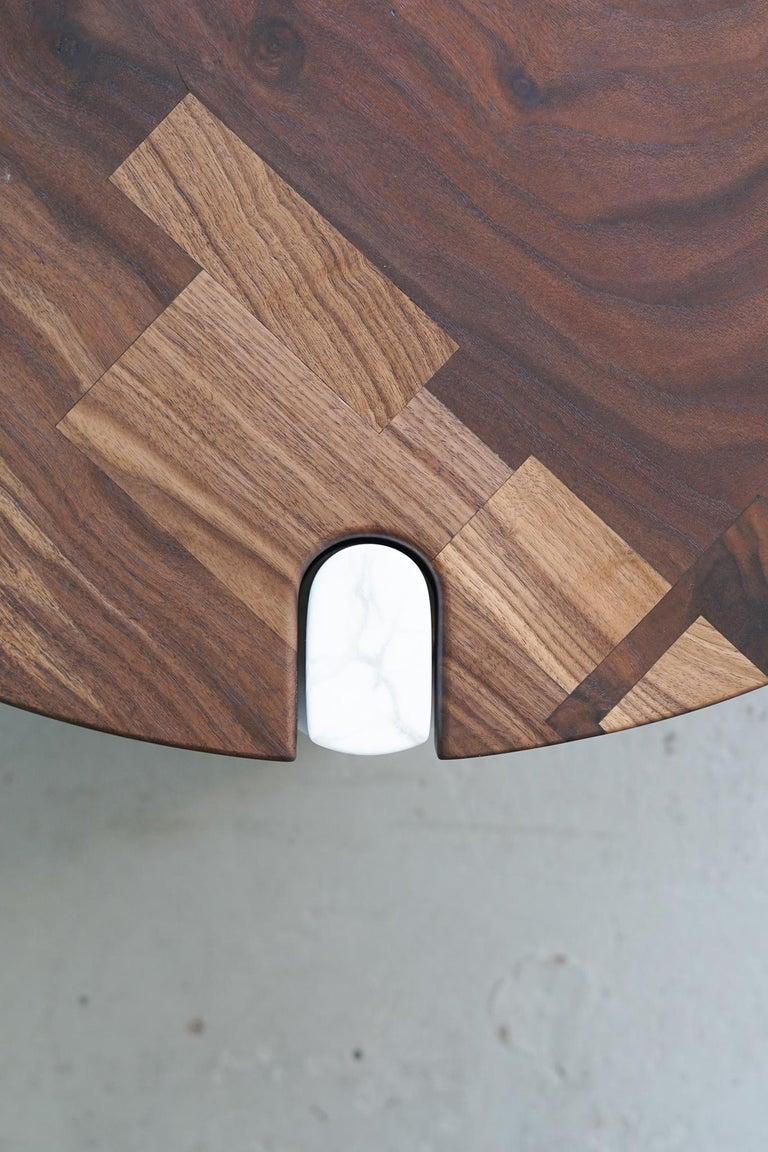Contemporary Modern Alabaster Coffee Table Nº1 Claro Walnut Slab For Sale