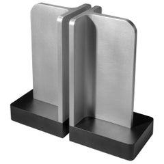 Modern Aluminum Sculptural Bookends
