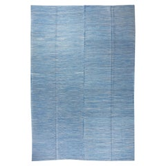 Modern Anatolian Double Sided Kilim Rug. 100% Wool. Custom Options Available
