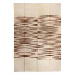 Modern Anatolian Double Sided Kilim Rug, 100% Wool, Custom Options Available
