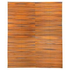 Modern Anatolian Double Sided Kilim Rug, 100% Wool