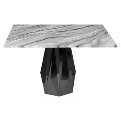 Modern, Luxury, Futuristic Quartz Dining Table No.1, Stainless Steel and Marble
