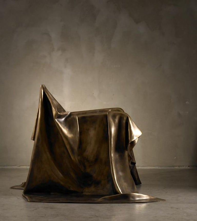 Modern Andrea Salvetti for Dilmos Limited EditionArmchair Sculpture Bronze Cast  In New Condition For Sale In Milan, IT