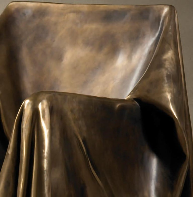 Contemporary Modern Andrea Salvetti for Dilmos Limited EditionArmchair Sculpture Bronze Cast  For Sale