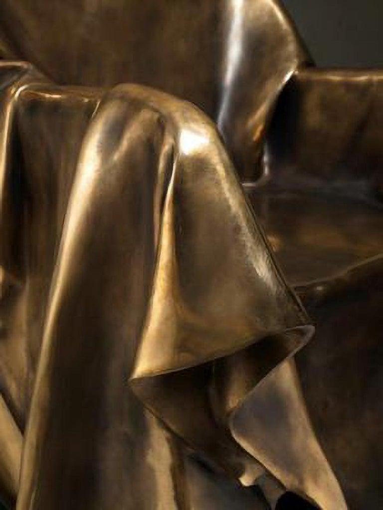 Modern Andrea Salvetti for Dilmos Limited EditionArmchair Sculpture Bronze Cast  For Sale 1