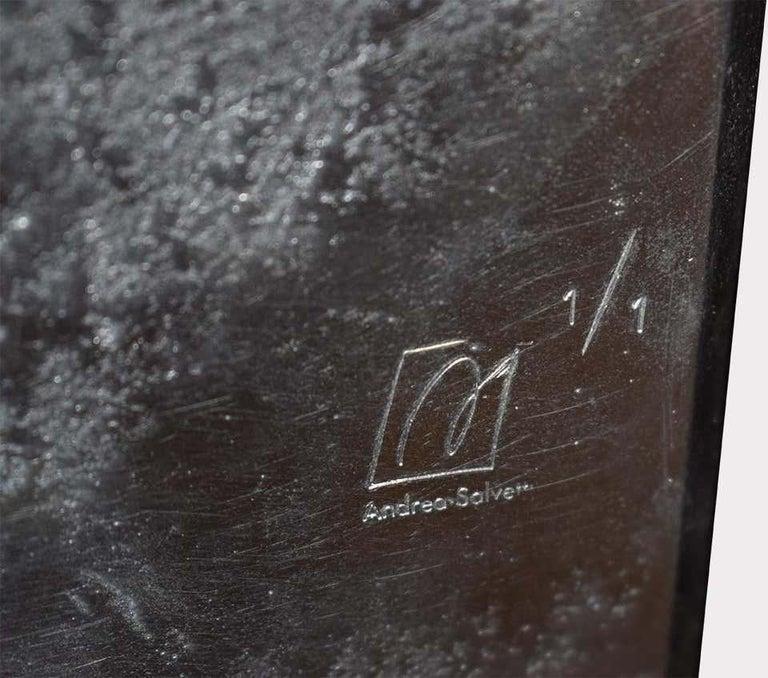 Aluminum Modern Andrea Salvetti for Dilmos Cabinet Sculpture Storage Aluminium Cast For Sale