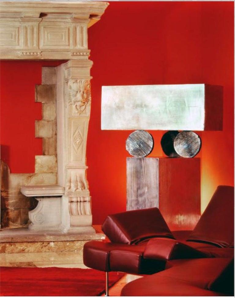 Modern Andrea Salvetti for Dilmos Cabinet Sculpture Storage Aluminium Cast For Sale 1
