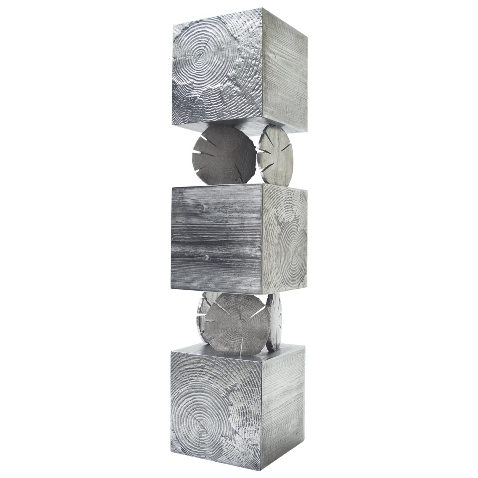 Modern Andrea Salvetti for Dilmos Cabinet Sculpture Storage Aluminium Gold Cast