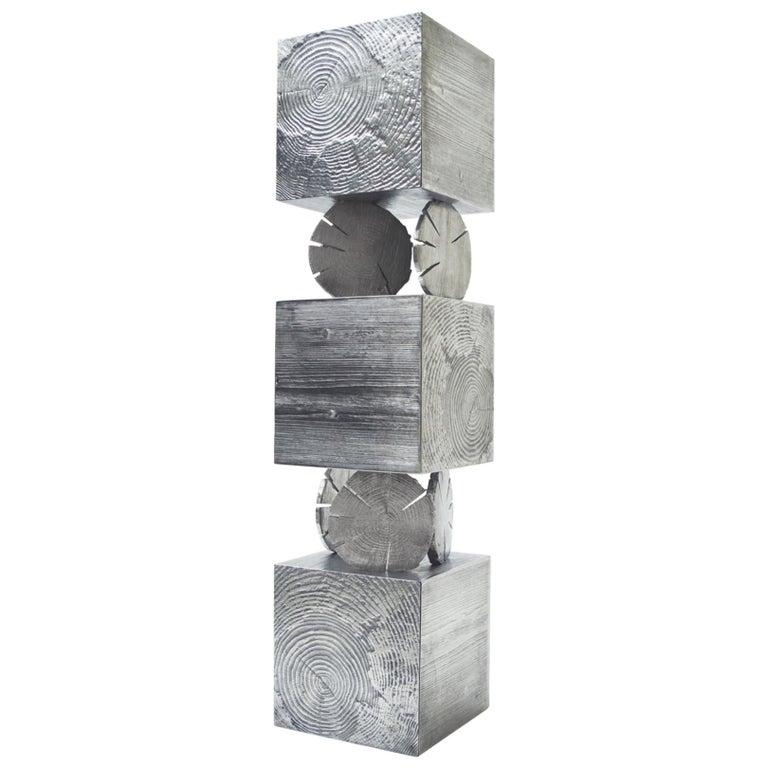 Modern Andrea Salvetti for Dilmos Cabinet Sculpture Storage Aluminium Gold Cast For Sale