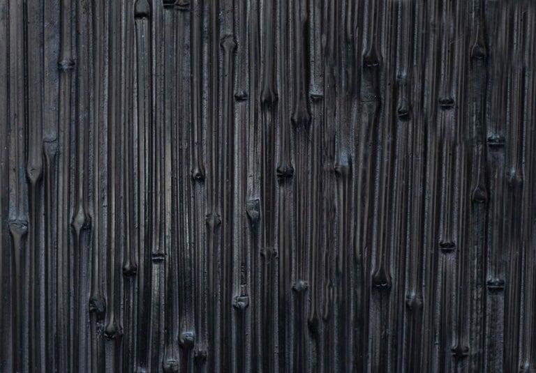 Aluminum Modern Andrea Salvetti for Dilmos Reed Cabinet Storage Cast Aluminium Black For Sale