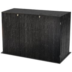 Modern Andrea Salvetti for Dilmos Reed Cabinet Storage Cast Aluminium Black