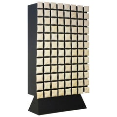 Modern Annibale Oste for Dilmos Cabinet Storage Resin Mother Pearl Effect