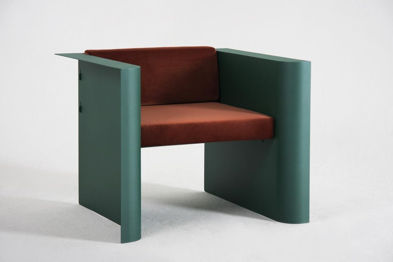 Powder-Coated Modern Armchair from