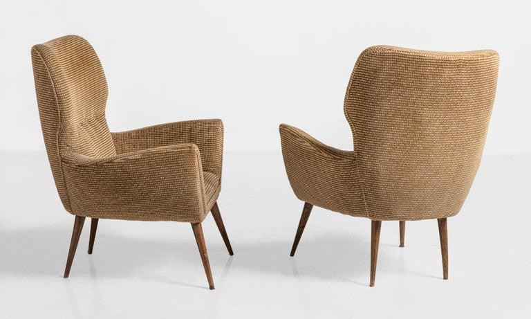 Mid-Century Modern Modern Armchairs, Italy, circa 1950 For Sale