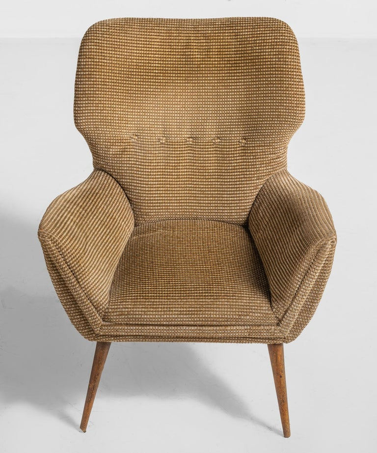 Italian Modern Armchairs, Italy, circa 1950 For Sale