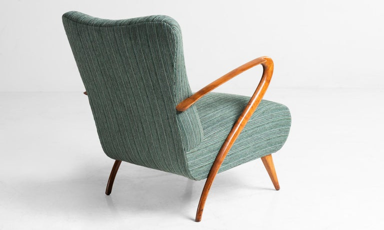 Italian Modern Armchairs, Italy, circa 1950 For Sale