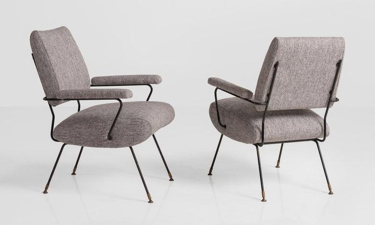Italian Modern Armchairs, Italy, circa 1960 For Sale