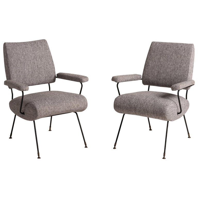 Modern Armchairs, Italy, circa 1960 For Sale