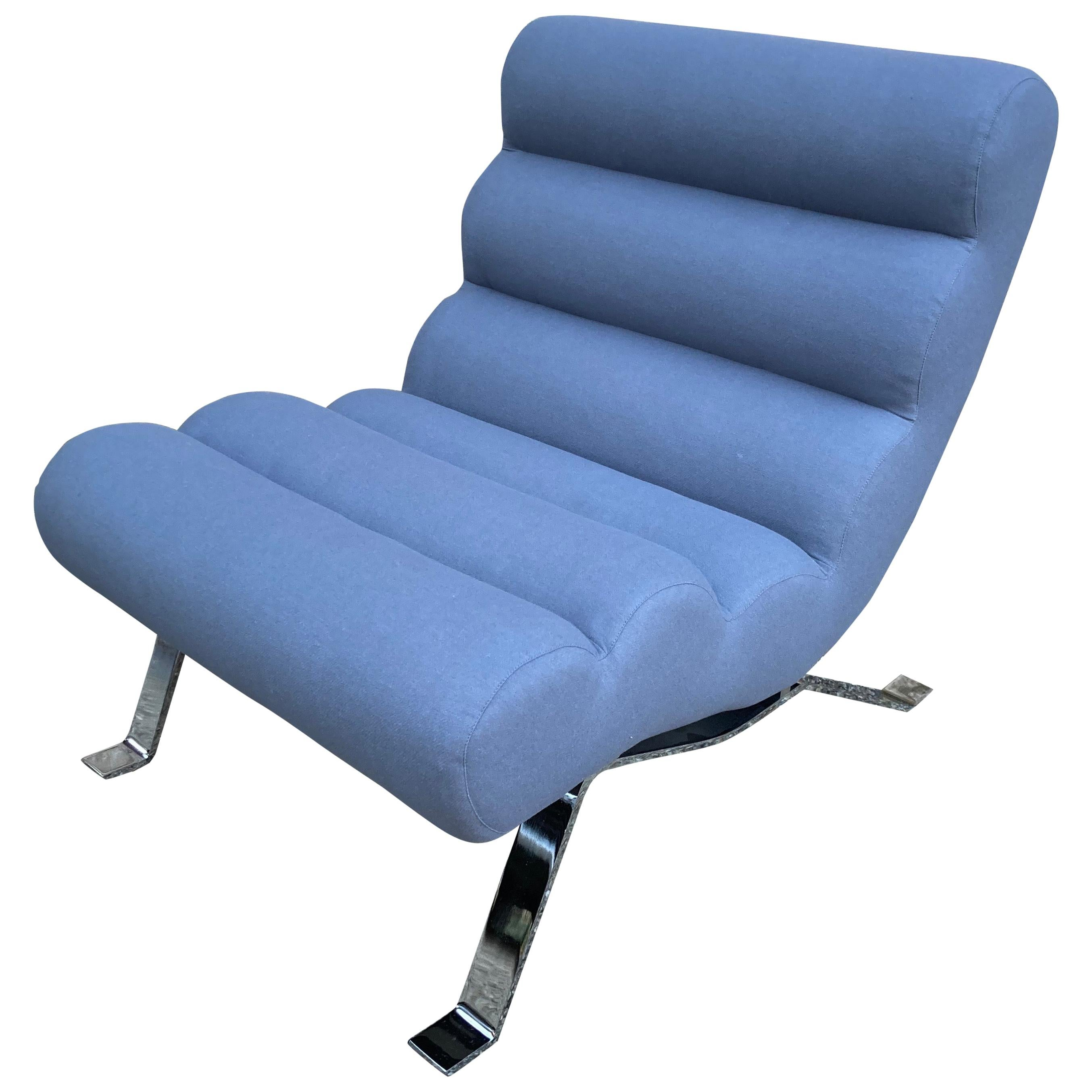 Modern Armless Lounge Chair