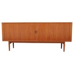 Modern Arne Vodder for Sibast Furniture Tambor Door Teak Credenza / Sideboard