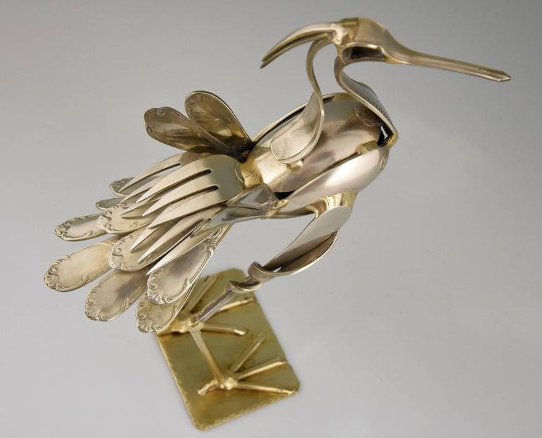 Modern Art Cutlery Sculpture of a Bird by Gerard Bouvier, France, 1998 4