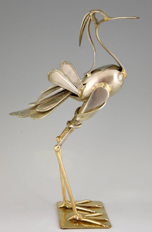 Modern Art Cutlery Sculpture of a Bird by Gerard Bouvier, France, 1998 3