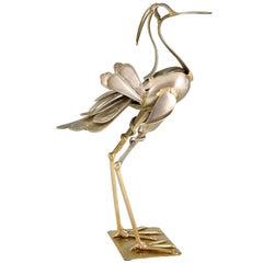 Modern Art Cutlery Sculpture of a Bird by Gerard Bouvier, France, 1998