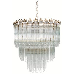 Modern Art Deco Glass/Crystal Chandelier