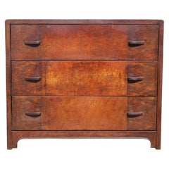 Modern Art Deco Steel Chest Faux Wood Bel Geddes Style Rust Patina